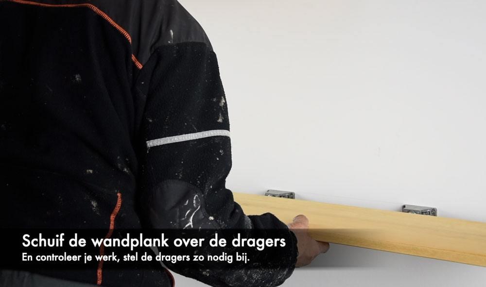 Wandplank Blinde Montage.Hoe Hang Je Een Zwevende Wandplank Met De Triade Maxi Op