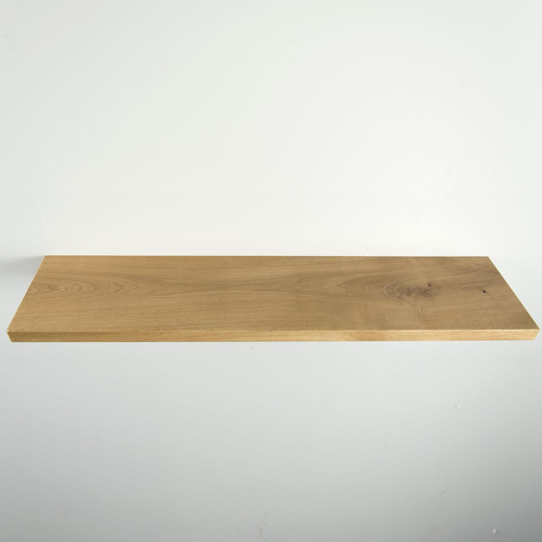 Plank Met Onzichtbare Bevestiging.Rustiek Eiken Wandplank 810x185x26mm