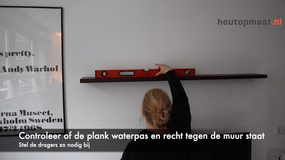 Wandplank Blinde Montage.Montage Met Titan 3d Houtopmaat Nl